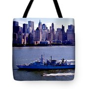Skyline Steaming Tote Bag by Benjamin Yeager