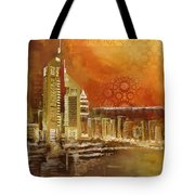 Skyline View  Tote Bag