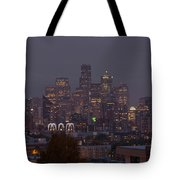 Skylines At Dusk, Seattle, King County Tote Bag