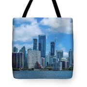 Skylines At The Waterfront, Miami Tote Bag