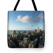 Skyscrapers In A City, Chicago, Cook Tote Bag
