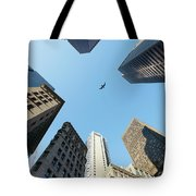Skyscrapers In A City, Old State House Tote Bag
