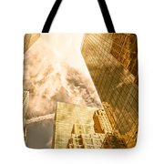 Skyscrapers Reflection  Tote Bag
