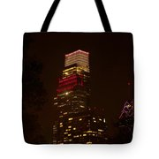 Skyscrapers Through The Trees Tote Bag