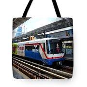 Skytrain Carriage Metro Railway At Nana Station Bangkok Thailand Tote Bag