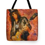 Slash Shredding On Guitar Tote Bag