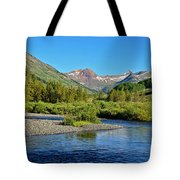 Slate River View Tote Bag