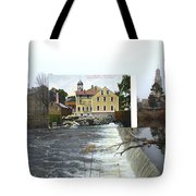 Slater Mill In Pawtucket Rhode Island Tote Bag