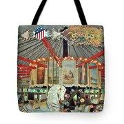 Slater Park Carousel Rounding Board Tote Bag