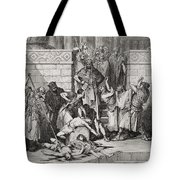 Slaughter Of The Sons Of Zedekiah Before Their Father Tote Bag
