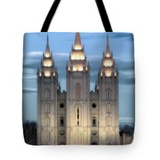 Slc Temple Blue Tote Bag by La Rae  Roberts
