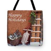 Sled And Tobbogan  Tote Bag