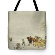 Sledges On The Ice Tote Bag
