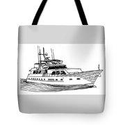 Sleek Motoryacht Tote Bag