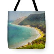 Sleeping Bear Dunes Lakeshore View Tote Bag