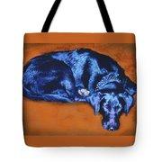 Sleeping Blue Dog Labrador Retriever Tote Bag