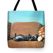 Sleeping Cat Tote Bag