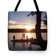 Sleeping Giant Sunset Tote Bag