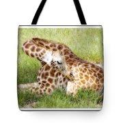Sleeping Giraffe Tote Bag