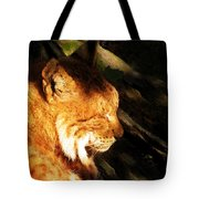 Sleeping Lynx  Tote Bag
