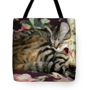Sleeping Tabby Tote Bag