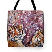 Sleeping Tigers Dream Such Sweet Dreams Kitties In Heaven Tote Bag
