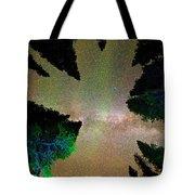 Sleeping Under The  Milky Way Stars Tote Bag