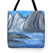 Sleepy Mountain Tote Bag