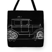Sleigh Attachment For Motor Vehicles Support Patent Drawing From 1926 2 Tote Bag