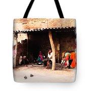 Slice Of Life Mud Oven Chulha Tandoor Indian Village Rajasthani 1b Tote Bag
