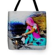 Slice Of Life Mud Oven Chulha Tandoor Indian Village Rajasthani 2 Tote Bag