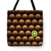 Sliced Kiwi Between Group Tote Bag