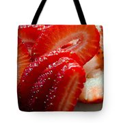 Sliced Strawberries Tote Bag