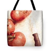 Sliced Tomatoes. Vintage Cooking Artwork Tote Bag
