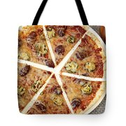 Sliced Tortilla Pizza Tote Bag