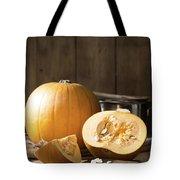 Slicing Pumpkins Tote Bag