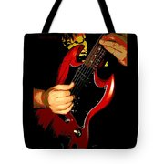 Red Gibson Guitar Tote Bag