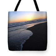 Sliding Down - Sunset Beach California Tote Bag