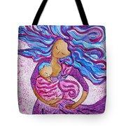 Sling Dance Motherhood Babywearing Dance Artwork Tote Bag
