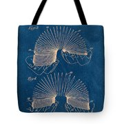 Slinky Toy Blueprint Tote Bag