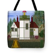 Slip Point Lighthouse Vintage Tote Bag