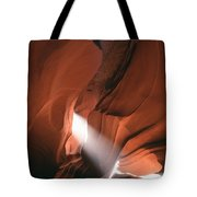 Antelope Canyon Sunbeam Tote Bag