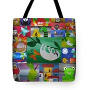Sloth And More Friends- Recycled Paper Tote Bag