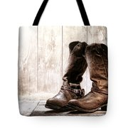Slouch Cowboy Boots Tote Bag