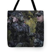 Slovenian Soldiers Watch For Simulated Tote Bag