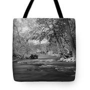 Slow Down At The River Tote Bag