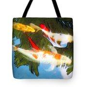 Slow Drift - Colorful Koi Fish Tote Bag by Sharon Cummings