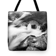 Slow Flow Black And White Tote Bag