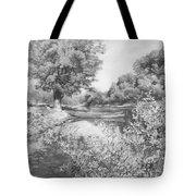 Slow River  Tote Bag