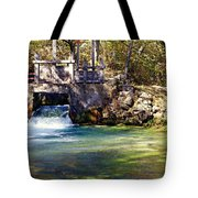Sluice Gate At Alley Spring Tote Bag